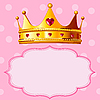 Vector clipart: Princess Crown on pink background