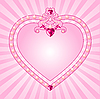 Vector clipart: Princess pink frame