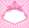 Vector clipart: Princess crown frame