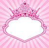 Rahmen mit Prinzessin-Krone