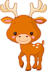 Vector clipart: Funny Deer