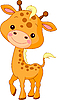 Vektor Cliparts: Comic-Giraffe