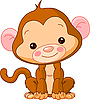 Vector clipart: Funny Monkey