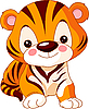 Vector clipart: Funny Tiger