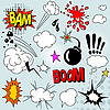Vector clipart: Comic elements set