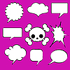 Vector clipart: Comics style speech bubbles