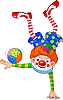 Vector clipart: Acrobat Clown
