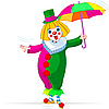 Vector clipart: Rope-walker Clown