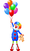 Vector clipart: Clown and Balloons