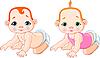Vector clipart: Cute babies