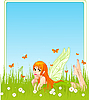 Vector clipart: Fairy place card