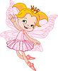Vector clipart: Little flying fairy