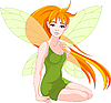 Vector clipart: Young fairy