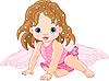 Vector clipart: Cute little Fairy