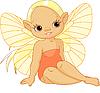 Vector clipart: Little sunny fairy