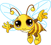 Vector clipart: Cute Bee flying