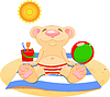 Vector clipart: Day at the beach