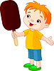 Vector clipart: Boy with ice cream