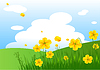 Vector clipart: Meadow praise background