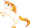 Vector clipart: Rearing up unicorn