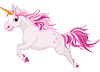 Running unicorn | Stock Vector Graphics