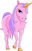 Vector clipart: Pink Unicorn
