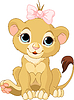 Vector clipart: Lion girl cub
