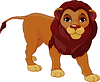 Vector clipart: Walking Lion