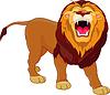 Векторный клипарт: Рыкающий лев