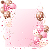 Vector clipart: Pink Birthday card