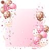 Векторный клипарт: Розовая открытка на день рождения