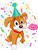 Векторный клипарт: День рождения щенка