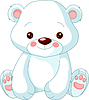 Vector clipart: Funny Polar Bear