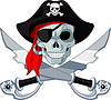 Vector clipart: Pirate Skull