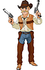Vector clipart: Wild west. Cowboy ready for shootout