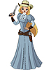 Vector clipart: Wild west. Young cowgirl