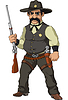 Wild west. Cartoon sheriff