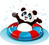 Vector clipart: Summer fun Panda