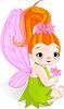 Vector clipart: Fairy with Flower