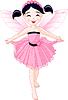 Vector clipart: Little pink fairy