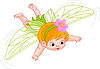 Vector clipart: baby fairy in flight