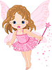 Vector clipart: Cute little baby fairy