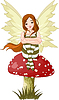 Vector clipart: Young forest fairy