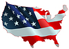 Vector clipart: American flag map