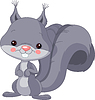 Vector clipart: Funny Gray squirrel