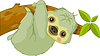 Vector clipart: Funny Sloth
