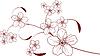 Vector clipart: Cherry blossom design