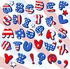 Vector clipart: Patriotic Cartoon font
