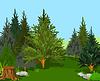 Векторный клипарт: Лесной ландшафт