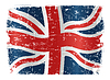 Vector clipart: UK flag grunge design